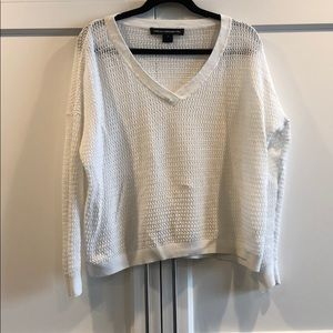 French Connection Knit Lightweight White Sweater